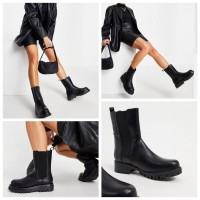 9底: RAID 中筒女裝靴 (黑色)