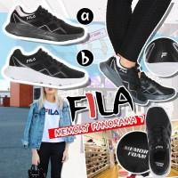 10中: FILA Panorama 記憶墊運動鞋 (黑色配黑底)