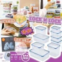 10中: Lock N Lock 方型保鮮盒 (18件裝)