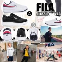 10中: FILA Classic Canvas 中童波鞋 (黑色)