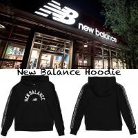 10中: New Balance LOGO 雙邊中童衛衣 (黑色)