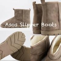 10中: ASOS Slipper Booties 毛毛靴 (啡色)