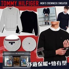12月初: Tommy Hilfiger 男裝圓領冷衫 (灰色)