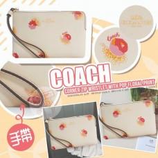 11中: Coach Floral Print 小花米白小銀包