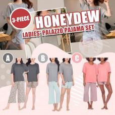 12月初: Honeydew Palazzo 3件裝睡衣套裝 (顏色隨機)