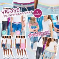 12月初: Vigoss Bermuda 2條裝女童牛條短褲 (藍色+粉紅色)