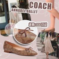 11中: Coach Annabel Ballet 平底尖頭鞋 (啡色)