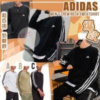 12月初: Adidas Crew 男裝圓領長袖衛衣 (黑色)