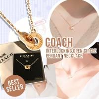 11底: Coach Interlocking 雙圈扣頸鏈