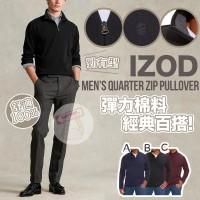 12月初: IZOD Quarter 男裝拉鏈上衣 (酒紅色)