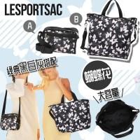 12月初: LeSportsac 黑白灰蝴蝶花包包